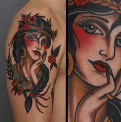 Woman traditional tattoo