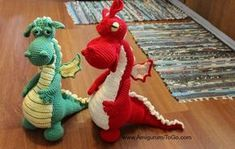 Free crochet dragon pattern, don't forget to click to Part 2 for the photo tutorial. Thanks so much for sharing.