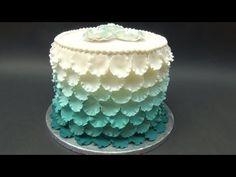 Torta con petali effetto degrade' , How-to make an Ombre Ruffle Cake