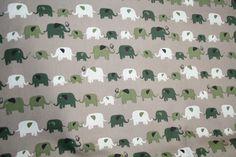 Stoff Elefanten - Elefanten 100% Baumwolle - ein Designerstück von Mein-Etagerenzauber bei DaWanda