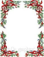 Frosted Holiday Wishes Letterhead   Holiday Papers   Pinterest ...