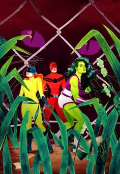 She-Hulk, Hellcat, and Giant-Man by Kevin Wada