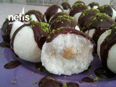 10 Dakikada Kartopu Tatlısı (Muhteşem Rafaello Cocostar) Deserts, Muffin, Food And Drink, Pudding, Meals, Chocolate, Cooking, Breakfast, Raffaello
