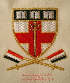 Groton School BC. USA embroidery by PHT for C&R blazers