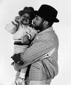 Jason William Mizell (aka Jam Master Jay) and son.