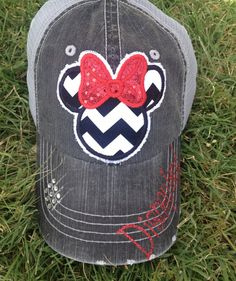Disney Minnie Mouse Trucker Baseball Hat. Perfect for Disney World or Disneyland. By Chasing Elly