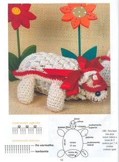 DIY – Instructions for Crocheted Turtle Amigurumi Free Pattern Tutorial Crochet Motif, Crochet Doilies, Crochet Toys, Bird Patterns, Handicraft, Free Pattern, Turtle, Diy And Crafts, Dinosaur Stuffed Animal