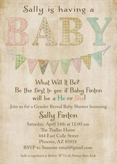 gender reveal invite wording