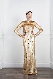 Gold pallettes floor-length dress - Google Search