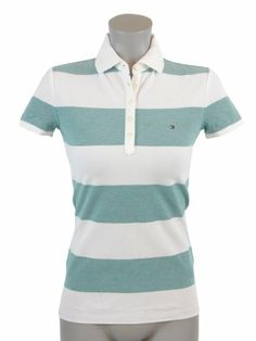 Tommy Hilfiger Slim Fit Womens Striped Logo Polo « ShirtAdd.com – Perfect Fit Shirts