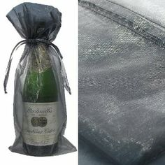 """1x Silver Bottle & Wine Organza Favor Gift Bags 6.5x15 inch (.... $0.94. Use it for gift wrapping. Available in packs of 30 pieces. We sell our gift bags in bulk so our price is sure to beat Amazon.com competitors.. The sheer & see thru material makes it great to unhide the perfect gift. Use for wedding favors or baby showers or even parties,Good quality, sheer organza material, 100% safe. Great for birthday party gift bags. 6.5x15"""" Silver Bottle & Wine Organza..."""