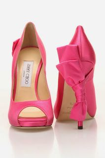 Jimmy Choo satin pink bow shoes If I were a Rich Girl ~ U by Usua Wishlist navidad