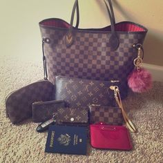 Louis Vuitton Accessories  Here is my accessories collection (purses not pictured) I'm selling the rose ballerine 6 ring key cles and monogram cles. Please make an offer Louis Vuitton Bags Clutches & Wristlets