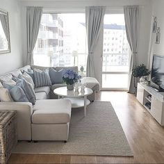 simple grey living room - Small Living Room