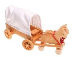 Grimm's Wooden Prairie Wagon - Honeybee Toys
