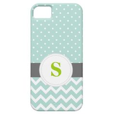 Mint Chevron and Polka Dot iPhone 5 Covers