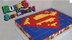 Superman Rubik's Cube Mosaic Stop Motion
