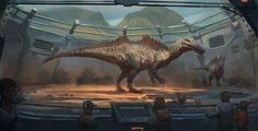 Mesozoic Land: Ichthyovenator, Raph Lomotan on ArtStation at https://www.artstation.com/artwork/mesozoic-land-ichthyovenator