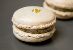 Savory macarons (this one is truffle)