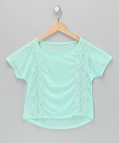 Take a look at this Mint Lace Tee by Sugar Tart on #zulily today!