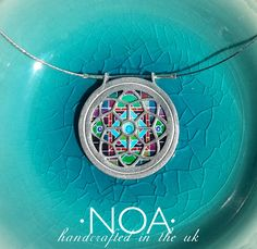 NOA Jewellery Rose pendant Sterling Silver and ceramics ('15 A147 #22). www.noajewellery.com