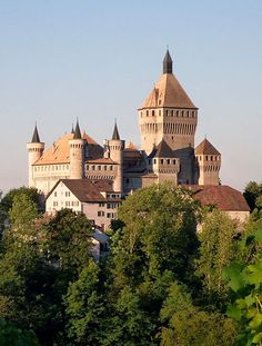 Château de Vufflens (Vufflens Castle), Vufflens-le-Château, Vaud, Switzerland.
