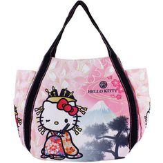 bebe24acb127 Sanrio Hello Kitty Japanese Pattern Print Bag Kitty x DEARISIMO Mt.Fuji  KIMONO