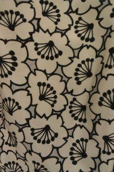 graphic sakura floral textile