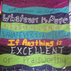 Bible verse painted on canvas