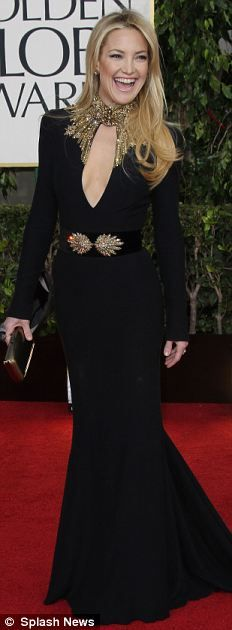 I love Kate Hudson's haute hippie style in this Sarah Burton gown . . . @sharonohreally