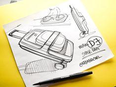 Hey mister DJ travel case   ..  Sketch 197/365 #sketchaday #idsketching #industrialdesign #productdesign #drawing #pendrawing #pen #sketch #inksketch #instasketch #concept #doodle #dailydoodle #designconcept #illustration #ilustração #ilustracion #desenho #dibujo #graphicdesign #designprocess #backpack #designoffice #tech #startup #softgoods #rucksack #skateboard #sk8 #dj #