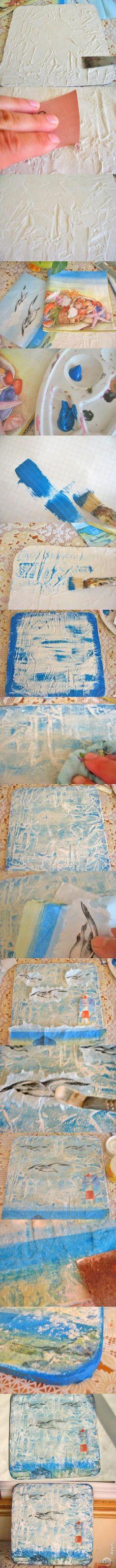 Декупаж - Сайт любителей декупажа - DCPG.RU   Декупаж по шпатлевке Click on photo to see more! Нажмите на фото чтобы увидеть больше!  decoupage art craft handmade home decor DIY do it yourself tutorial