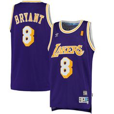 7f849a021 Men s Los Angeles Lakers Kobe Bryant adidas Purple Road Hardwood Classics  Swingman Jersey