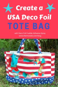 USA Firework Deco Foil Tote Bag by Jamie Muller