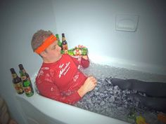 How do other Tough Mudders train? Ice Baths.