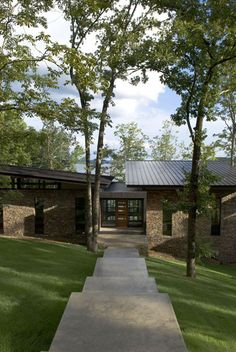 Low Slope Roof at Modern House