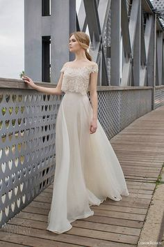 Limor Rosen 2015 Collection wedding dress soft and romantic with two pieces chif. Limor Rosen 2015 Collection wedding dress soft and romantic with two pieces 2015 Wedding Dresses, Bridal Dresses, Wedding Gowns, Bridesmaid Dresses, Bridal Gown, Filipiniana Wedding, 2015 Dresses, Wedding Dressses, Bohemian Prom Dresses