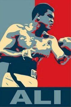 Muhammad Ali 19 X 13 Obama style poster print Limited