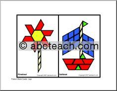 Pattern Block: Toys (elem/upper elem) - preview 1 - good for summer theme