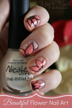 Beautiful Flower Nail Art
