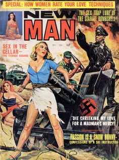 pulp art New Man Magazine Pulp Fiction Art, Pulp Art, Cover Pages, Cover Art, Book Covers, Comic Covers, Pulp Magazine, Magazine Covers, Adventure Magazine