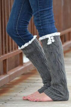 Lace Boot Socks Leg Warmers  #bootsocks #lace
