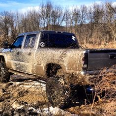 Spring means big Chevy trucks and mud. I love it! :)