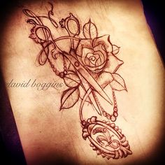watercolor tattoo of shears - Google Search