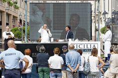 l'obiettivo era quello di dare il giusto #valore all'immenso #patrimonio #agroalimentare regionale e di riportare la #qualità al centro della cucina #mediterranea.  #enna #agroalimentare #cibo #chef #eventi #sicilia #outlet #village #sapori #cibo