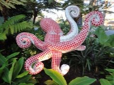 This mosaic octupus is located near the Aquarium at SeaWorld in San Diego.