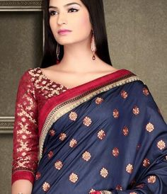 6b68369230ac0 See all the latest Banarasi Saree Blouse design of 2017 for neck and back  neck