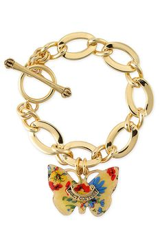 Juicy Couture Butterfly Drop Bracelet