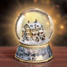 lenox christmas snow globes | Home For Christmas