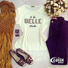 Para o look ficar equilibrado, misture peças carregadas com peças neutras! ❤️ #love #luizamodas #trend #tendencia